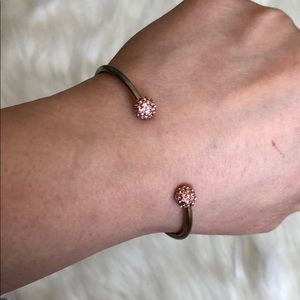 Jewelry - Gold and pink open bracelet